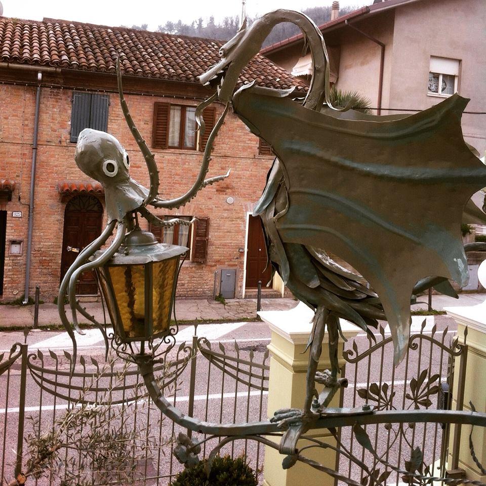 Drago e polpo portalanterna