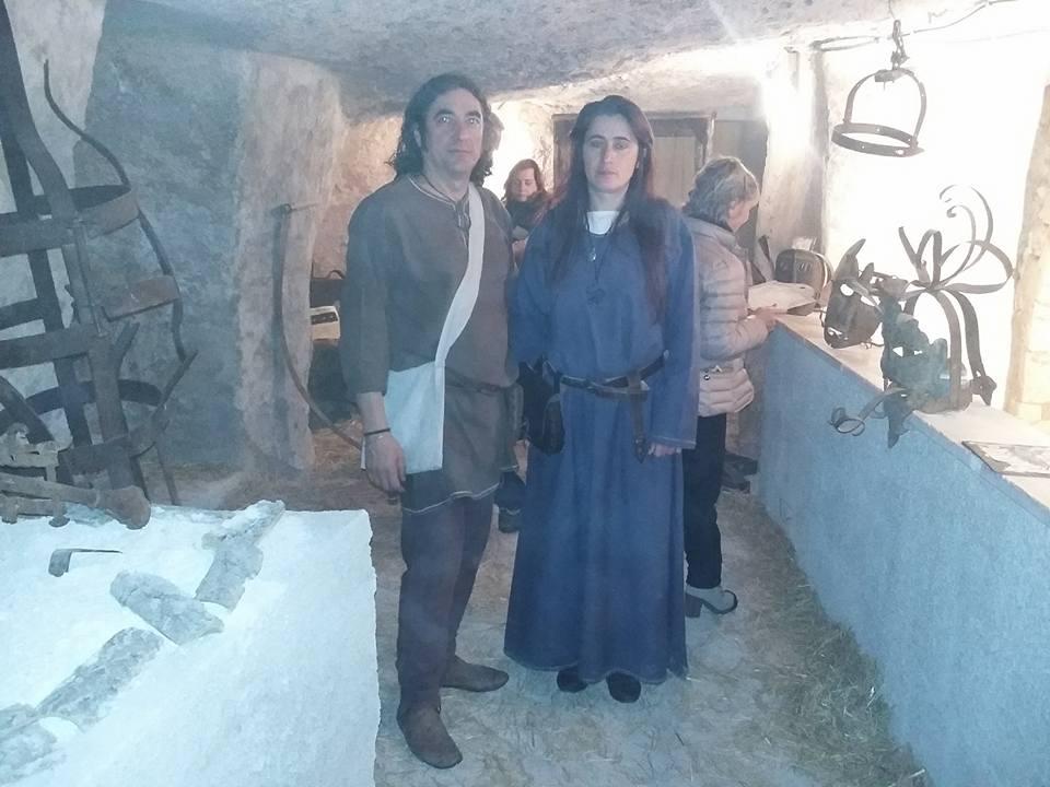 Mostra strumenti di tortura nell'Ipogeo di Carbonara